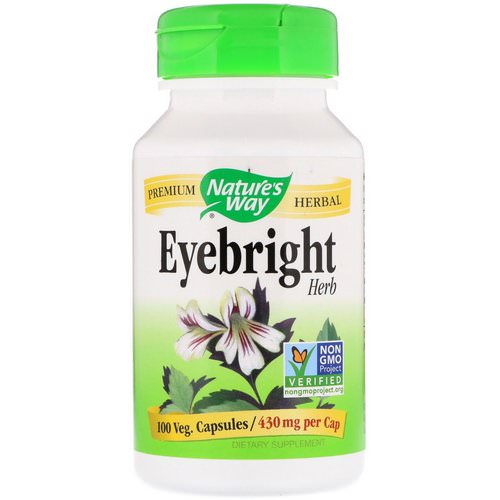 Nature's Way, Eyebright Herb, 430 mg, 100 Veg. Capsules Review