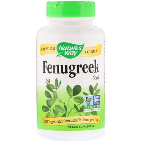 Nature's Way, Fenugreek Seed, 610 mg, 180 Vegetarian Capsules Review