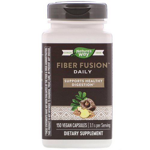 Nature's Way, Fiber Fusion Daily, 150 Vegan Capsules Review