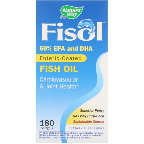 Nature's Way, Fisol, Enteric-Coated Fish Oil, 180 Softgels Review