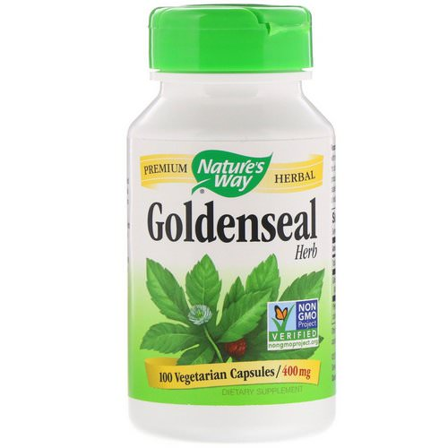 Nature's Way, Goldenseal Herb, 400 mg, 100 Vegetarian Capsules Review