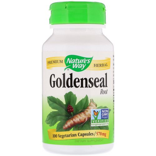 Nature's Way, Goldenseal Root, 570 mg, 100 Vegetarian Capsules Review