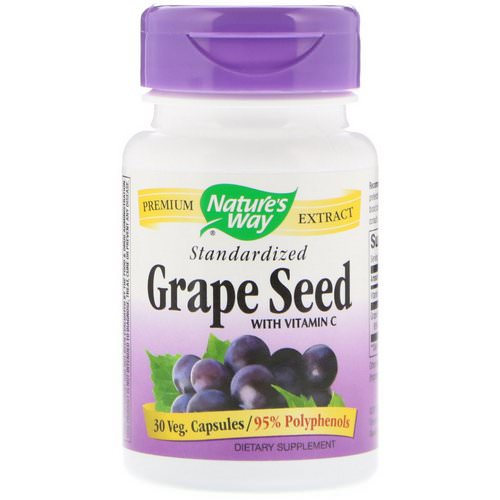 Nature's Way, Grape Seed with Vitamin C, Standardized, 30 Veg. Capsules Review