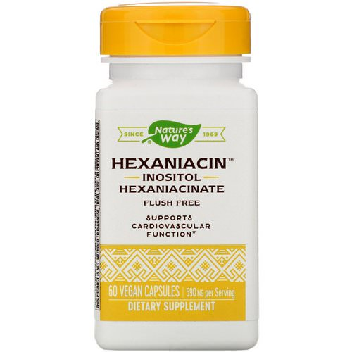 Nature's Way, HexaNiacin, 590 mg, 60 Vegan Capsules Review