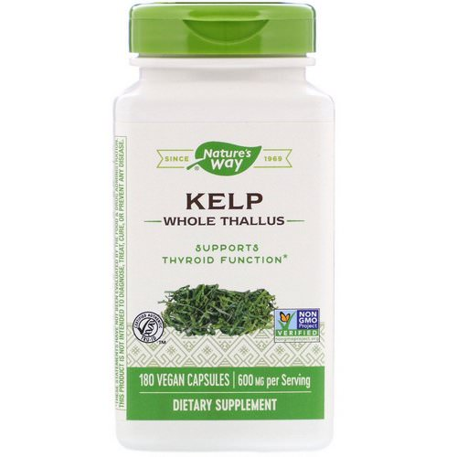 Nature's Way, Kelp, Whole Thallus, 600 mg, 180 Vegan Capsules Review