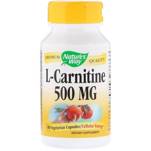 Nature's Way, L-Carnitine, 500 mg, 60 Vegetarian Capsules Review