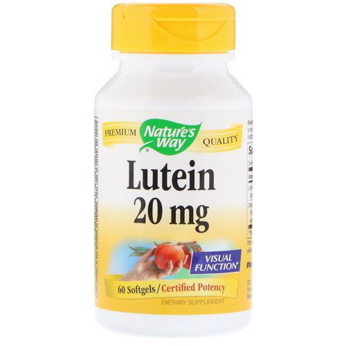 Nature's Way, Lutein, 20 mg, 60 Softgels Review