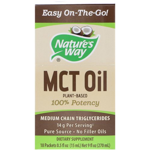 Nature's Way, MCT Oil, 18 Packets, 0.5 fl oz (15 ml) Each Review