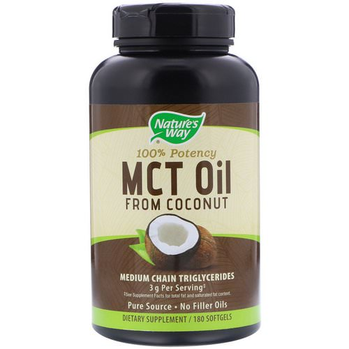 Nature's Way, MCT Oil, From Coconut, 180 Softgels Review