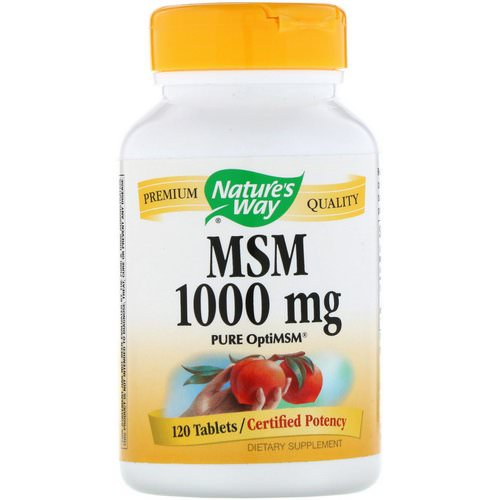 Nature's Way, MSM, Pure OptiMSM, 1000 mg, 120 Tablets Review