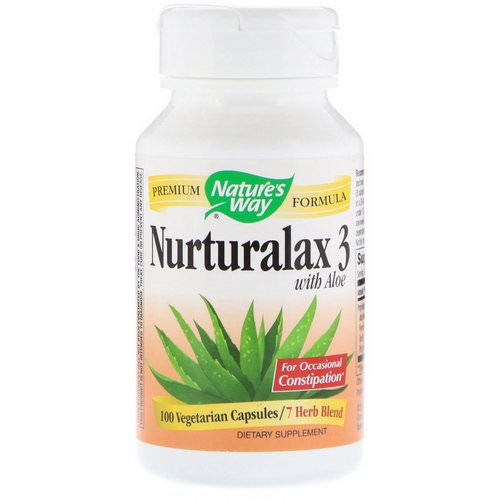 Nature's Way, Nurturalax 3, with Aloe, 100 Vegetarian Capsules Review