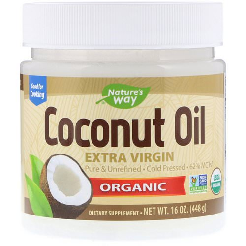 Nature's Way, Organic Coconut Oil, Extra Virgin, 16 oz (448 g) Review