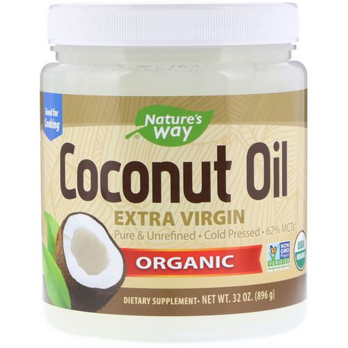 Nature's Way, Organic, Coconut Oil, Extra Virgin, 2 lbs (896 g) Review