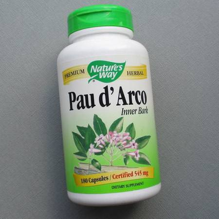Nature's Way, Pau d'Arco, Inner Bark, 1,090 mg, 180 Vegan Capsules Review