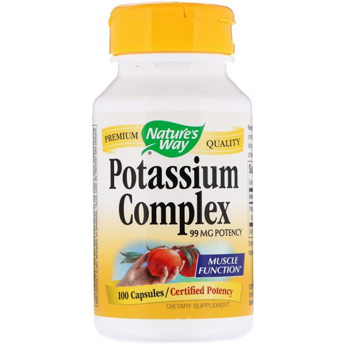 Nature's Way, Potassium Complex, 99 mg, 100 Capsules Review