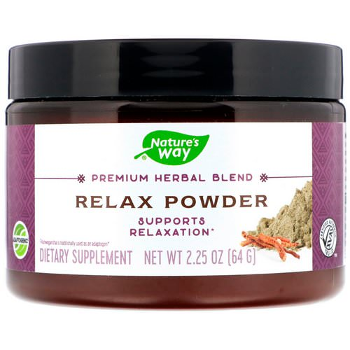 Nature's Way, Premium Herbal Blend, Relax Powder, 2.25 oz (64 g) Review