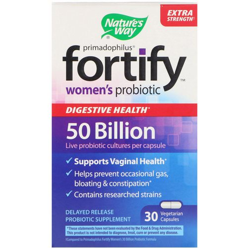 Nature's Way, Primadophilus, Fortify, Women's Probiotic, Extra Strength, 30 Vegetarian Capsules Review