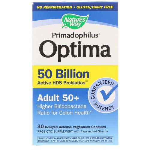 Nature's Way, Primadophilus Optima, Adult 50+, 30 Delayed Release Vegetarian Capsules Review
