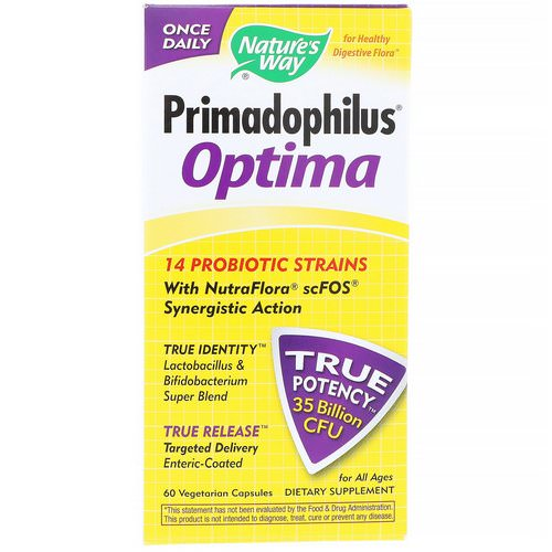 Nature's Way, Primadophilus Optima, For All Ages, 60 Vegetarian Capsules Review
