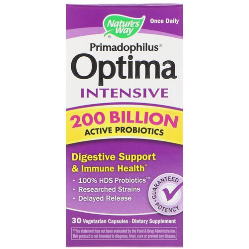 Nature's Way, Primadophilus Optima, Intensive, 30 Vegetarian Capsules Review