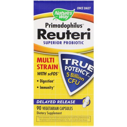 Nature's Way, Primadophilus Reuteri, Superior Probiotic, 90 Vegetarian Capsules Review