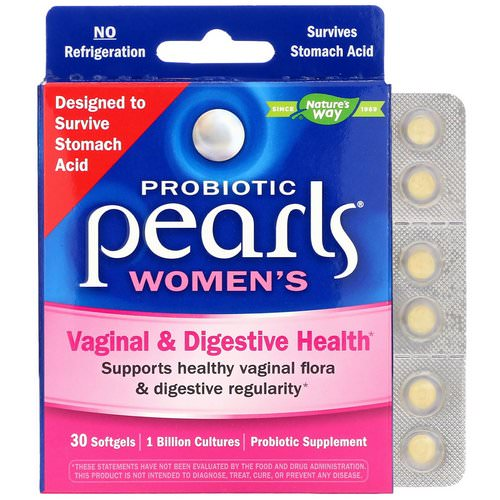 Nature's Way, Probiotic Pearls Women's, Vaginal & Digestive Health, 30 Softgels Review