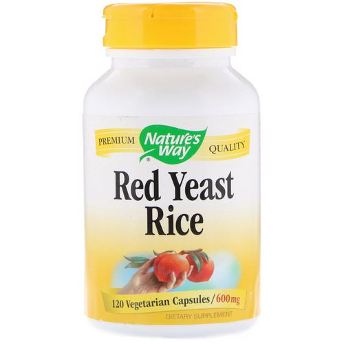 Nature's Way, Red Yeast Rice, 600 mg, 120 Vegetarian Capsules Review