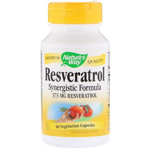 Nature's Way, Resveratrol, 37.5 mg, 60 Vegetarian Capsules Review