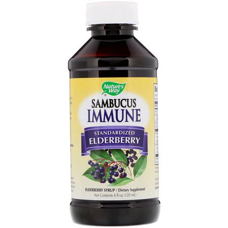 Nature's Way, Elderberry Sambucus, Cold, Cough, Flu