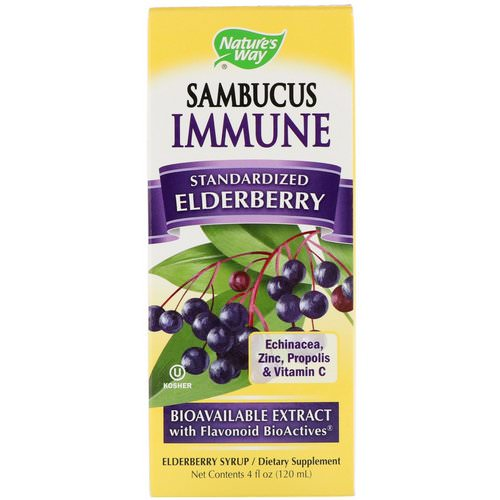 Nature's Way, Sambucus Immune, Elderberry, Standardized, 4 fl oz (120 ml) Review