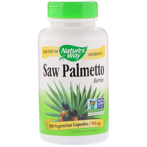 Nature's Way, Saw Palmetto Berries, 585 mg, 180 Vegetarian Capsules Review
