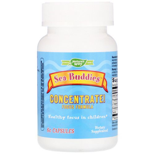 Nature's Way, Sea Buddies, Concentrate! Focus Formula, 60 Capsules Review