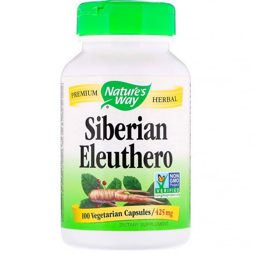 Nature's Way, Siberian Eleuthero, 425 mg, 100 Vegetarian Capsules Review