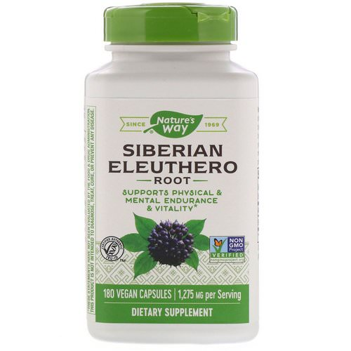Nature's Way, Siberian Eleuthero, Root, 1,275 mg, 180 Vegan Capsules Review
