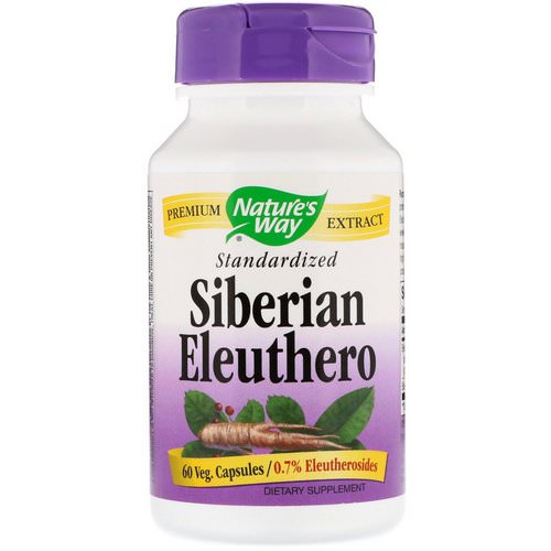 Nature's Way, Siberian Eleuthero, Standardized, 60 Veg. Capsules Review