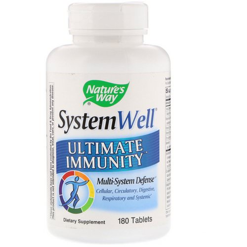 Nature's Way, System Well, Ultimate Immunity, 180 Tablets Review