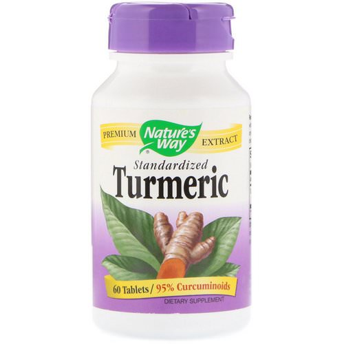 Nature's Way, Turmeric, Standardized, 60 Tablets Review