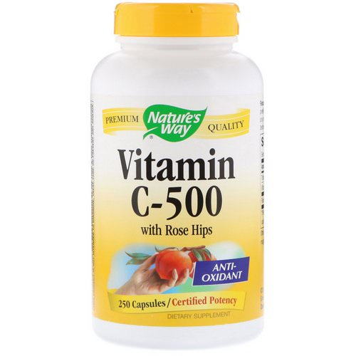 Nature's Way, Vitamin C-500 with Rose Hips, 250 Capsules Review