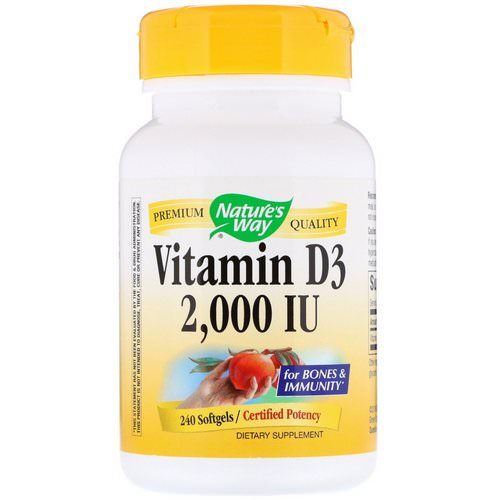 Nature's Way, Vitamin D3, 2,000 IU, 240 Softgels Review