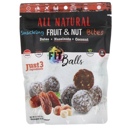 Nature's Wild Organic, All Natural, Snacking Fruit & Nut Bites, Fit Balls, Dates + Hazelnuts + Coconut, 5.1 oz (144 g) Review