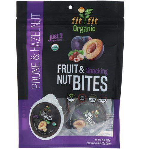 Nature's Wild Organic, Organic, Fruit & Snacking Nut Bites, Prune & Hazelnut, 6 Pack, 0.88 oz (25 g) Review