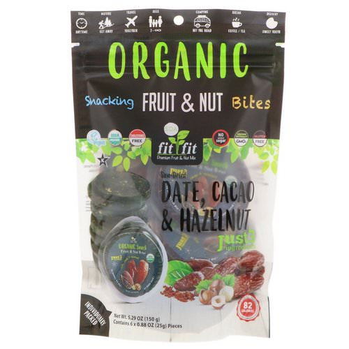 Nature's Wild Organic, Organic, Snacking Fruit & Nut Bites, Sun-Dried Date, Cacao & Hazelnut, 6 Pack, 0.88 oz (25 g) Each Review