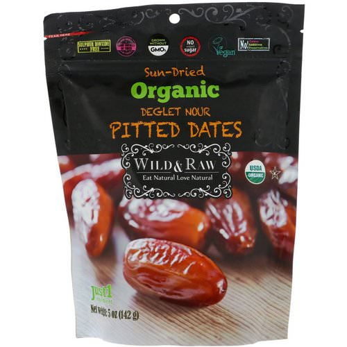 Nature's Wild Organic, Wild & Raw, Sun-Dried, Organic Deglet Noor Pitted Dates, 5 oz (142 g) Review