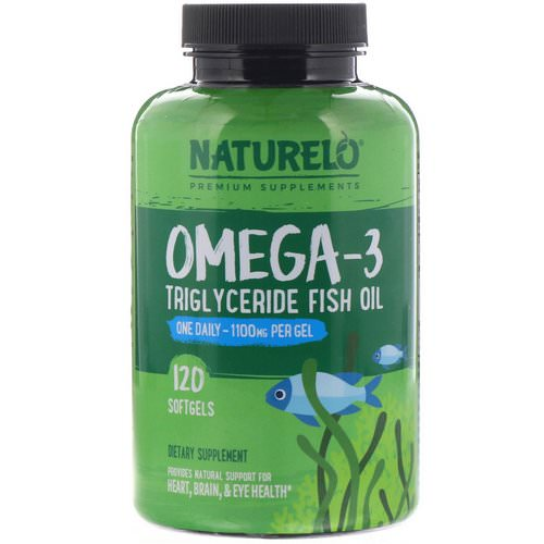 NATURELO, Omega-3 Triglyceride Fish Oil, 1,100 mg, 120 Softgels Review
