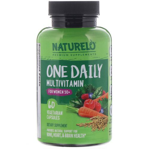 NATURELO, One Daily Multivitamin for Women 50+, 60 Vegetarian Capsules Review