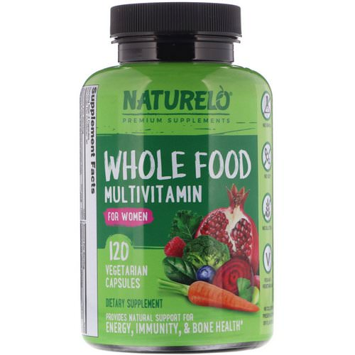 NATURELO, Whole Food Multivitamin for Women, 120 Vegetarian Capsules Review