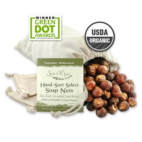 NaturOli, Organic, Hand-Sort Select Soap Nuts With 2 Muslin Drawstring Bags, 32 oz Review