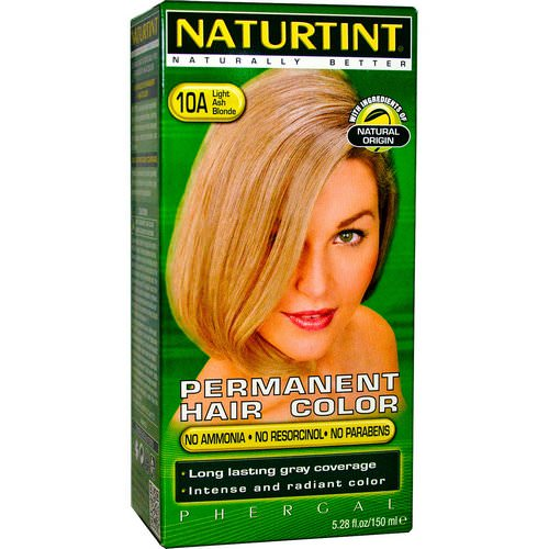 Naturtint, Permanent Hair Color, 10A Light Ash Blonde, 5.28 fl oz (170 ml) Review