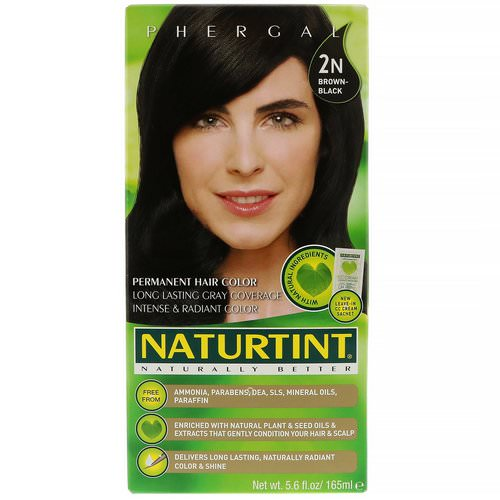Naturtint, Permanent Hair Color, 2N Brown-Black, 5.6 fl oz (165 ml) Review