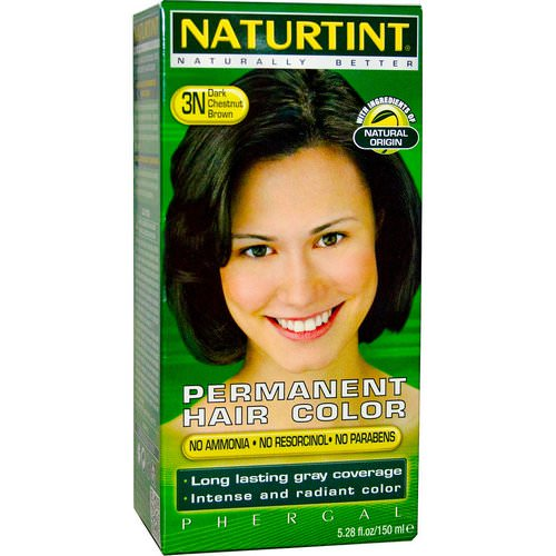 Naturtint, Permanent Hair Color, 3N Dark Chestnut Brown, 5.28 fl oz (150 ml) Review
